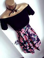 NataNella ❤️ Skater Summer Mini Dress Cold Off The Shoulder Bodycon Boutique