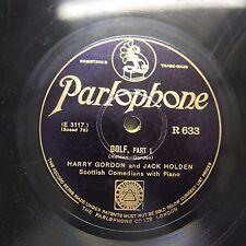 78rpm HARRY GORDON & JACK HOLDEN golf , R 633