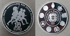 Portugal año 2007. 10 Euros Plata PROOF. VII Serie Iberoamericana. MARATONA.