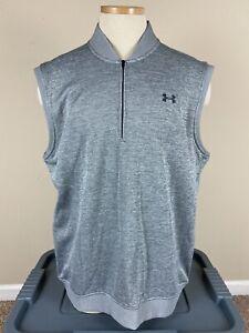 Under Armour Golf Loose Storm 1 1/4 Zip Gray Golf Vest Men's Size XL