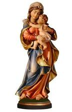 "12"" Large Mary with Jesus Woodcarving - Hand Carved & Painted Madonna & Christ"