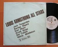 Louis Armstrong All Stars Jack Teagarden Earl Hines etc Palm 30 Vinyl LP EX/VG