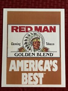 Red Man Advertising 8x10 Photo