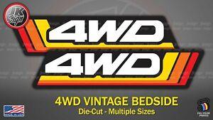 4WD Retro Bedside (One Decal) FITS on Toyota FJ Cruiser Tacoma 4 Runner FJ40