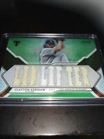 Topps Triple Threads Clayton Kershaw Jersey Relic SSP Lid Lifter /18 Dodgers
