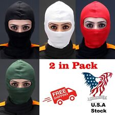 2 Pack Full Face Mask Head Sock Balaclava Outdoor Ski Motorcycle Cycling Go kart