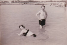 1950s Nude man in briefs with wife woman gay interest old Russian Soviet photo