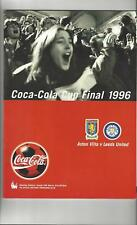 Aston Villa v Leeds United League Cup Final Football Programme 1996 Autographed
