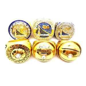 Golden State Warriors 6 pcs + box Championship NBA rings