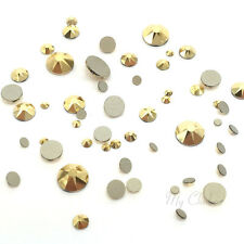144 pcs Mixed Sizes Swarovski 2058/2088 Flatbacks gold CRYSTAL AURUM (001 AUR)