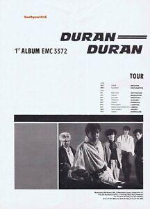 1981  Duran Duran Debut Album Release & U.K. Tour Reproduction Promo Ad