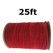 """25ft 1/4"""" Red Shock Cord Marine Grade Bungee Heavy Duty Tie Down Stretch Rope"""