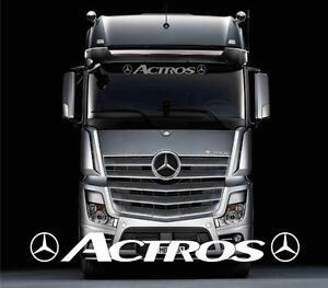 Mercedes Actros Truck sun visor sticker/decal for cab lightbox/visor exterior
