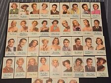 1950s Engrav-o-tints Peerless Rare Movie Tv Star Complete 40 Card Set