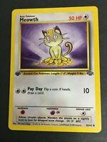 Pokemon - MEOWTH 56/64 - 1st Edition - Jungle Set - Non-Holo - EXC