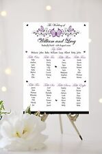 Butterfly Wedding Table Plan Seating Plan Sign Chart White/Ivory Background
