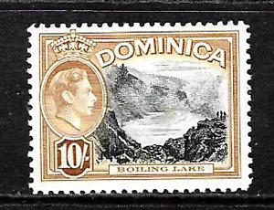 Dominica .. King George V1 .. 10/- mint postage stamp .. 5802