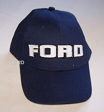 Ford Mens Navy Blue Embroidered Block Logo Cap Hat One Size