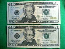 USA 2 BANK NOTES 2009  2X20 *STARS* CRISP ATLANTA