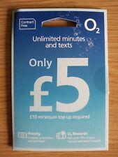 O2 SIM Card: Unlimited Minutes & Texts for £5 Bundle Nano Micro Mini +WiFi UK