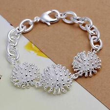 925 Sterling Silver 3 Spike Balls Bracelet Jewellery Christmas Gift Present Girl