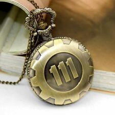 111 Electronic Game Bronze Fallout 4 Time Chain Pendant Neckage Pocket Watch