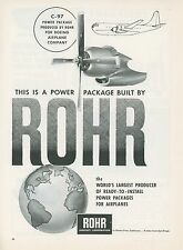 1951 Rohr Aircraft Co. Ad Boeing C-97 Cargo Transport Plane Engines Airplane
