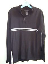 George Black Design Cotton Knit Long Sleeve Zip Henley Sweater XL 16/18 EUC MN