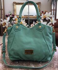 3cf0f9faf0 New Marc Jacobs Q Fran Green Pebbled Leather Satchel Cross-body Bag MSRP  $455