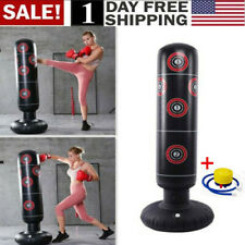 US! Adult Free Standing Punching Bag Boxing Cardio Kickboxing Fitness Training