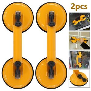 2X Glass Suction Cup Puller Lifter Gripper Mover Sucker Pad Auto Tool UK