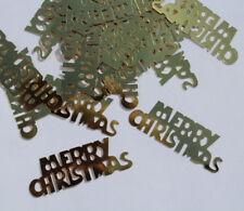 30 Stück Streudeko Merry Christmas Weihnachten goldfarben Tischdeko Heiligabend