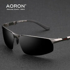 Aluminium HERREN SPORTBRILLE BIKER Polarisiert SONNENBRILLE VERSPIEGELT Brille