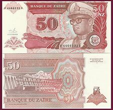 2,000 Zaires Zaire P36 caring of woman UNC Mobutu // platform fishing with net