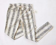 GUESS Women's Tailored Power Skinny Animal Print – Embellished Beige Wash sz 27