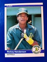 1984 Fleer Baseball Oakland A's Rickey Henderson Card # 447