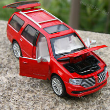 Lincoln Navigator SUV 2015 Model Cars 1:36 Sound & Light Alloy Diecast Red Gifts
