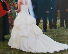 """MAGGIE SOTTERO COUTRE WEDDING DRESS """"14"""" IMPERIAL GOWN WITH 36"""" VALE BEADING"""