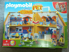 Playmobil My Take Along Pet Vet Clinic 5870 Building Figures Animals 100 pc NIP