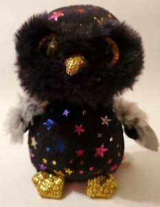 "Ty Beanie Boos HYDE the Halloween Star Owl 6""  Glitter Eyes NWT"