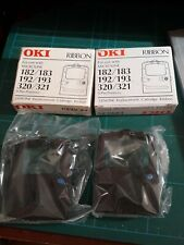 2 X OKI 182 Ribbons + Printer Handbook