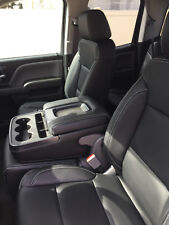 Chevy Silverado Double Cab WT Black Katzkin Leather Seat Replacement Covers