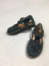 Lands End Toddler 5 Navy Blue Leather Buckle Shoes Sandals Vintage Look