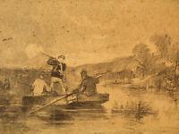 BEAU TABLEAU CHASSE 19C JAMES ALEXANDER WALKER DESSIN ENGLISH DRAWING HUNTING