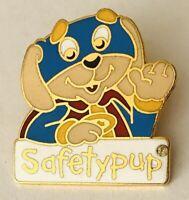 Safety Pup Authentic Cartoon Souvenir Puppy Dog Pin Badge Rare Vintage (A2)