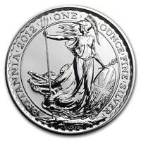 New 2012 UK Great Britain Silver Britannia 1oz Bullion Coin In Mint Plastic Seal