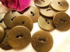 lot 8 boutons en COROZO marron mercerie couture mercerie  2,2 cm REF 2464