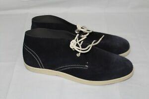 SALVATORE FERRAGAMO WORLD Men's 7.5 EE-EEE Blue Suede Leather Boots