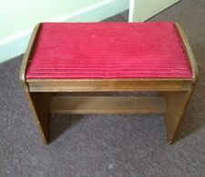 antique arts & crafts bench stool vintage old furniture art deco piano seat