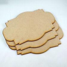 3x MDF Wooden VINTAGE sign Shapes Craft Embellishment  plaque hanger blank